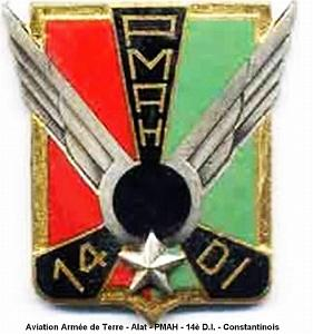 B176 Patch ECUSSON Commando Marine DE MONTFORT 8 CM