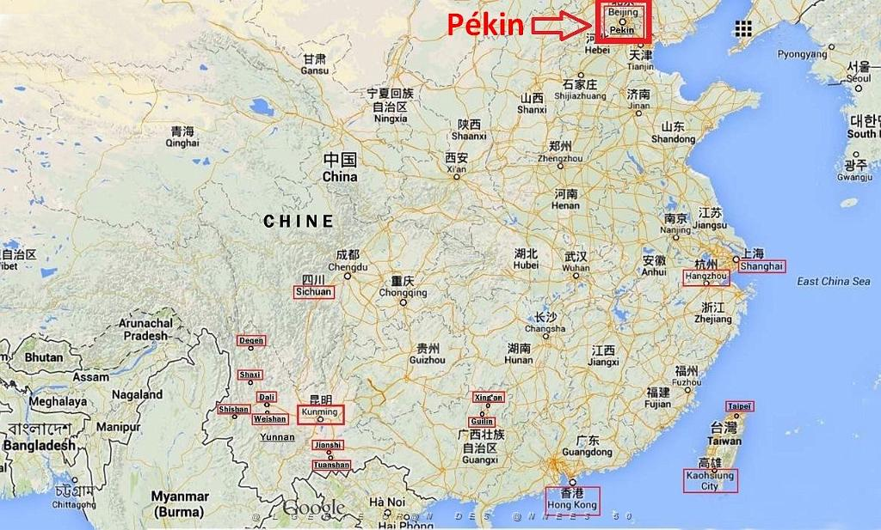 Carte Chine Hunan.Oran Des Annees 50 B Le Coin De Georges Vieville Les Tribulations