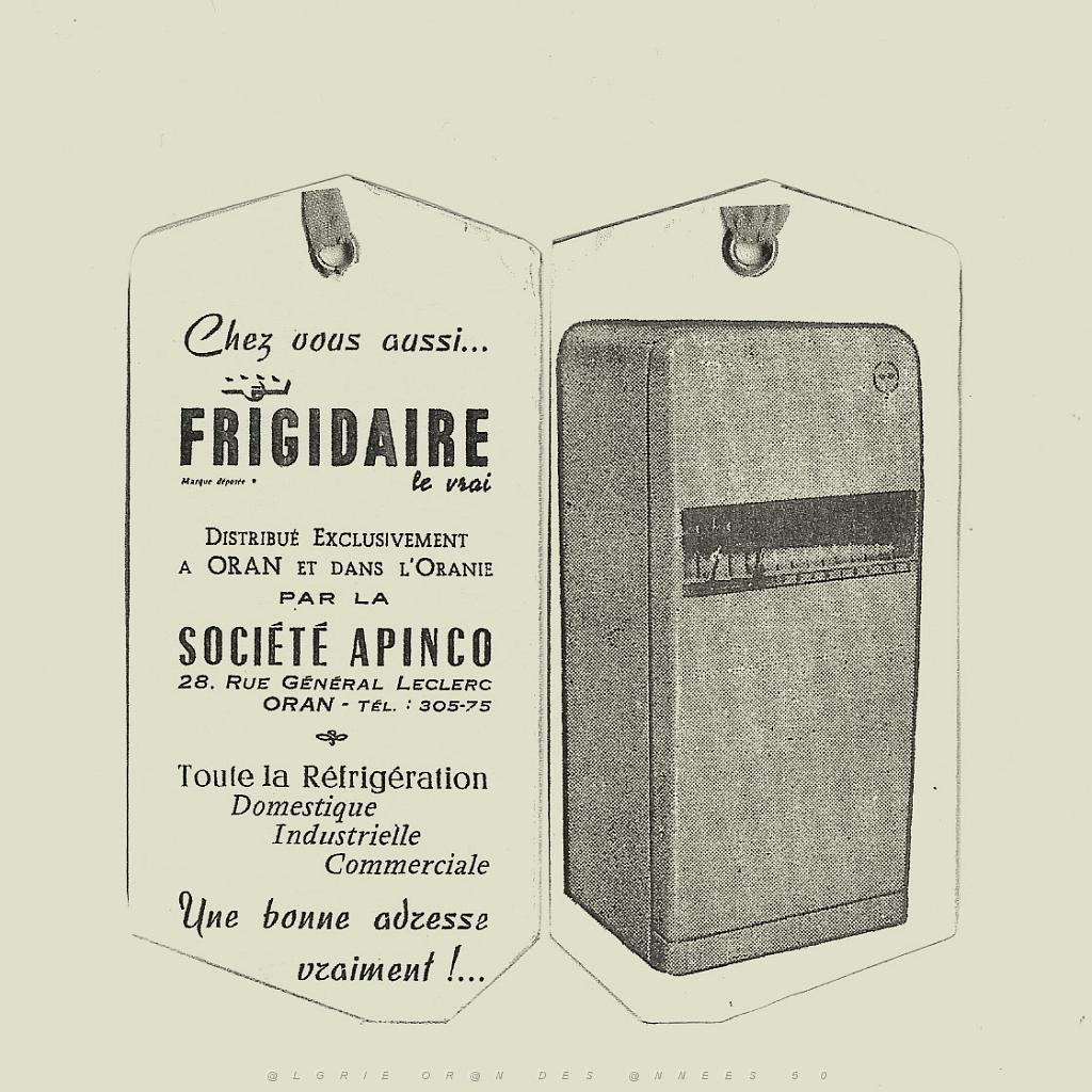 oran des annees 50 b le coin de robert lidon souvenirs le frigidaire. Black Bedroom Furniture Sets. Home Design Ideas